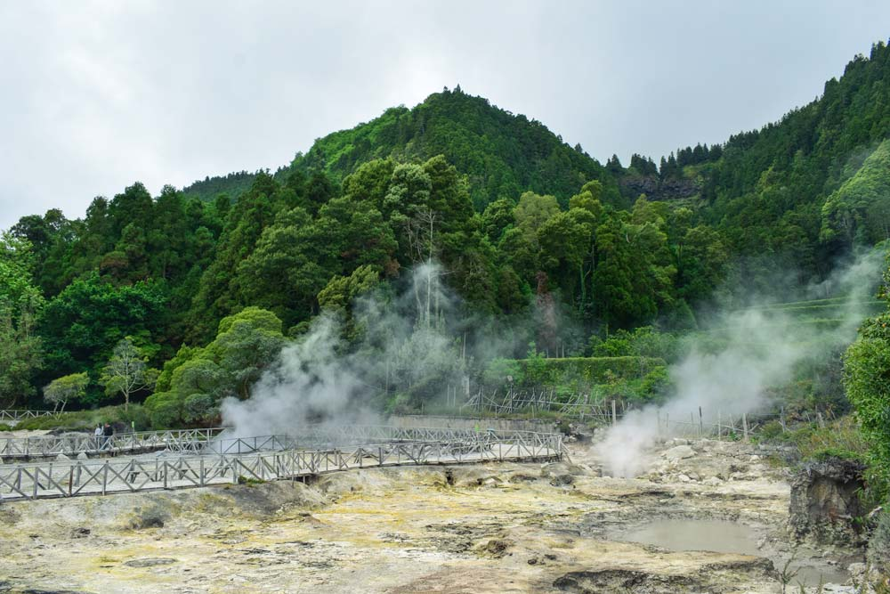 Thermal waters in Sao Miguel