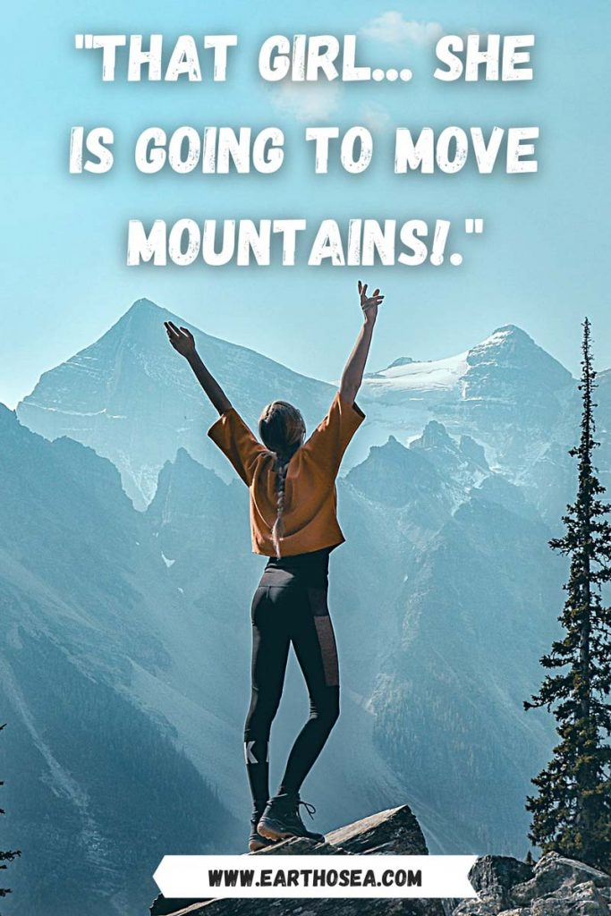 Caption for mountains