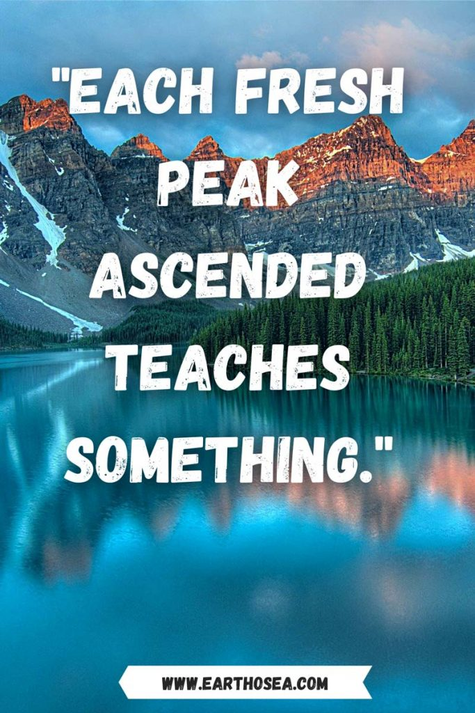 Mountaineering Quotes Inspiration