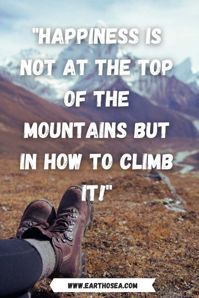 Quotes about climbing a mountain