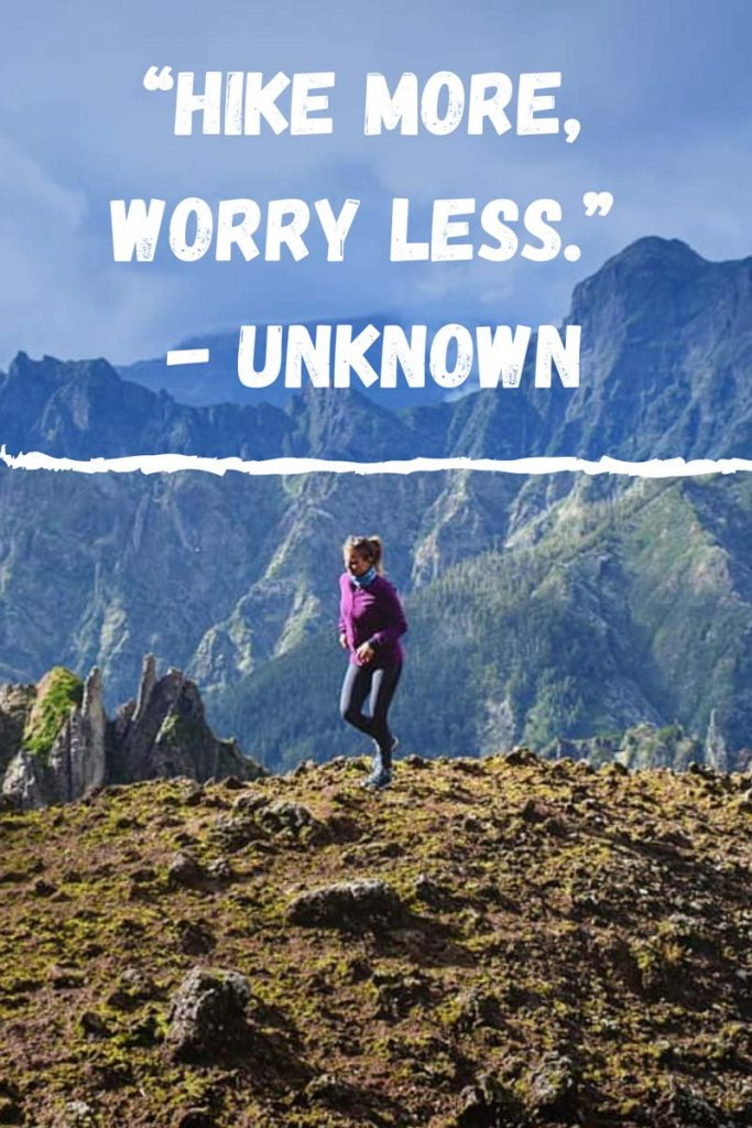 short hiking quotes