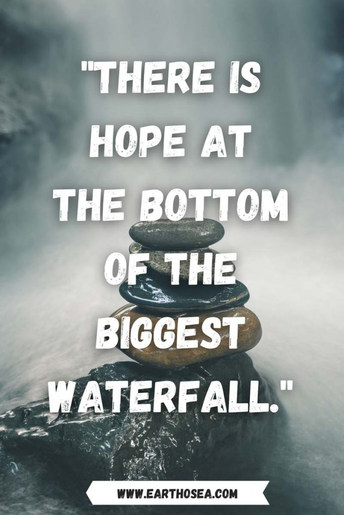 Water falls quotes