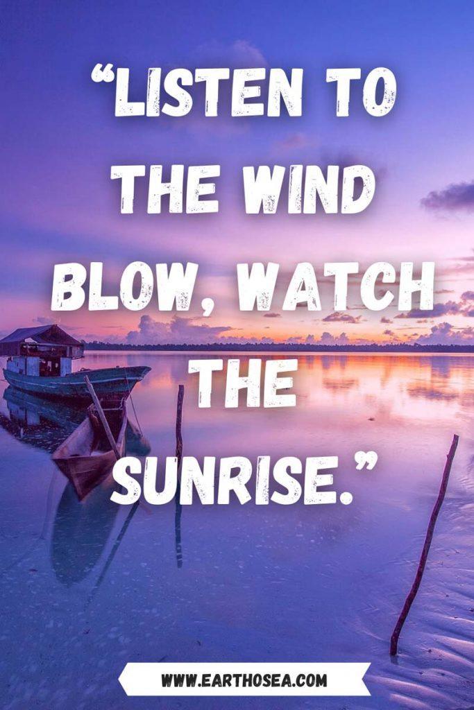 Caption on sunrise