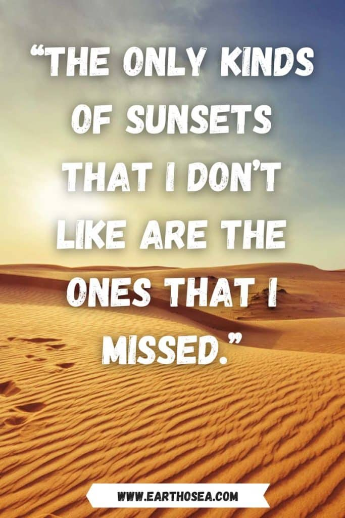 Instagram quotes about sunset