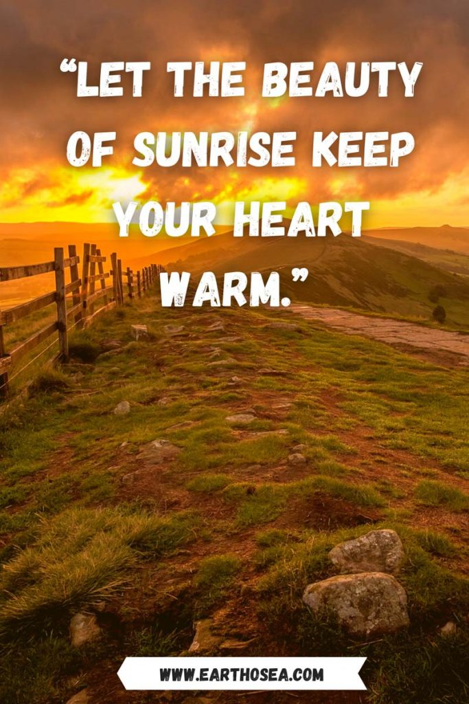 Quotes on sunrise and sunset